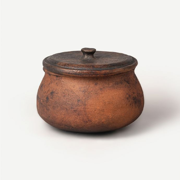 Serafina Magna - Black Clay Large Cooking Pot with Lid