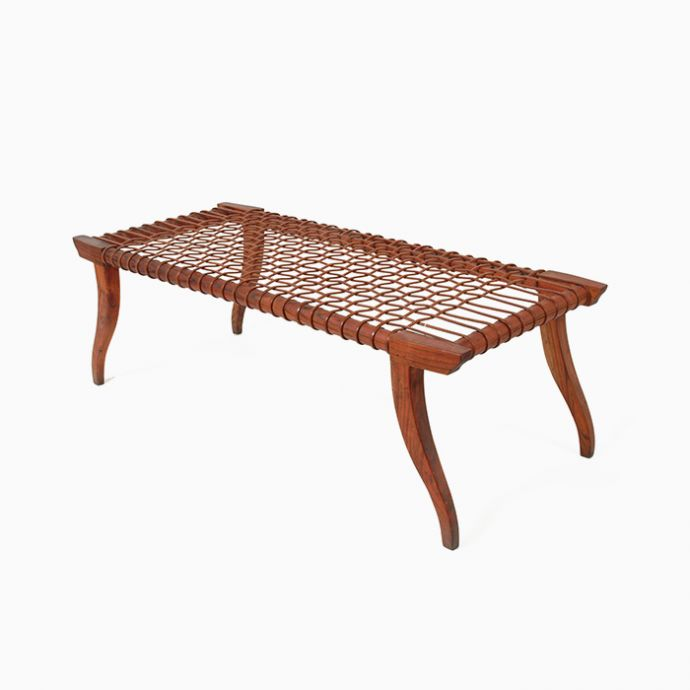 Leather Strap Bench