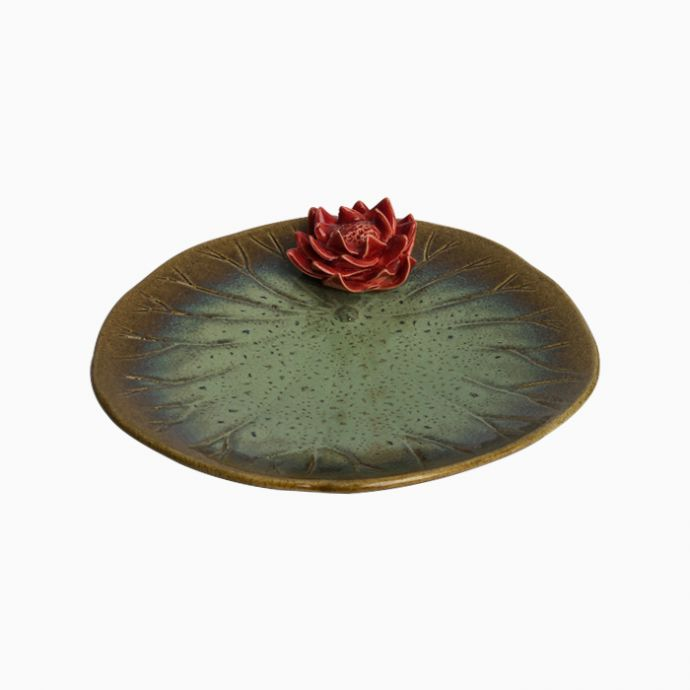 Lotus Plate with Flower