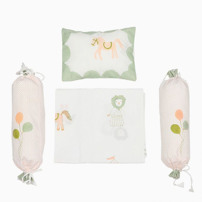Cot Bedding Set - I am going to the Circus - without Dohar