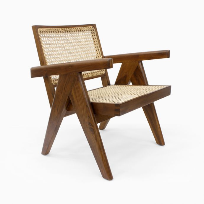 Pierre Jeanneret Cane Chair