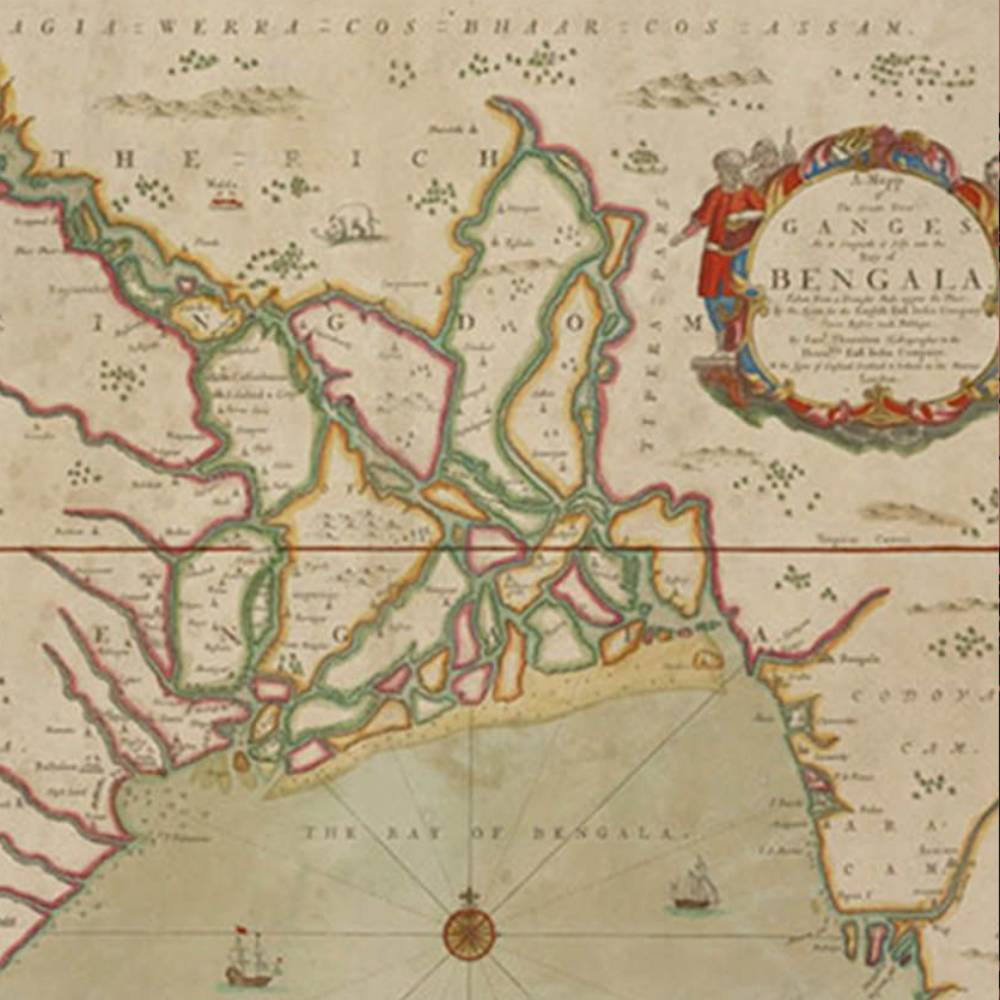 A Nautical Chart Of Great River Ganges Into The Bay Of Bengala